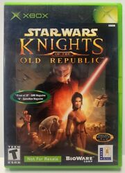 Star Wars Knight Of The Old Republic Xbox Original Complete Cib Not For Resale