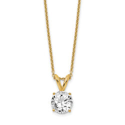 14k Yellow Gold 3/4ct. Round Cert. Lab Grown Dia. Solitaire Pendant Lal6894