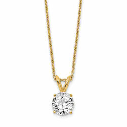 Lex And Lu 14k Yellow Gold 3/4ct. Round Lab Grown Dia. J, Solitaire Necklace