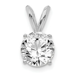 14k White Gold 3/4ct. Round Lab Grown Dia. Si1/si2, Solitaire Pendant Lal6995