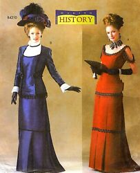 Ladies Victorian Dress Titanic Gown Jacket Sewing Pattern 18-22 Butterick 4212