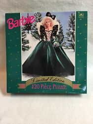 Vintage Barbie Jigsaw Puzzle-120 Pieces-1991 Doll In Green Gown- Unopened/sealed