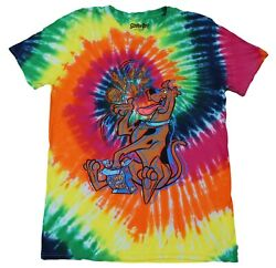 Scooby Doo Tie Dye Mens Exclusive Vintage Scooby Snacks Munchies T-Shirt New
