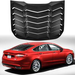 Rear Window Louver Cover Sun Shade Vent Abs For 2013-2020 Ford Fusion