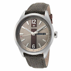 Hamilton Men#x27;s Broadway H43311985 40mm Silver Dial Leather Watch