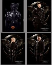 Lot Of 4 Posters Roll 47 3/16x63in Hunger Games 2014 Jennifer Lawrence Ec
