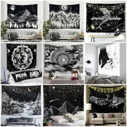 Psychedelic Mountain Tapestry Wall Hanging Hippie Black Tapestry Home Art Decor