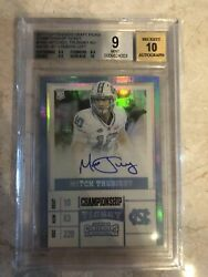 Mitchell Trubisky Panini Contenders 1/1 Championship Ticket Rc Auto Rookie Bgs 9