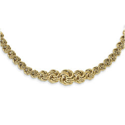 14k Yellow Gold Polished Fancy Link 17.5in Necklace Sf2476-17.5