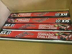 4pc Case Of Scx Compact 1/43 Tornado Challenge Slot Car Set Rally Race Track New