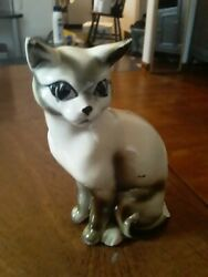 VINTAGE CAT JAPAN ADORABLE PORCELAIN 6 inches high