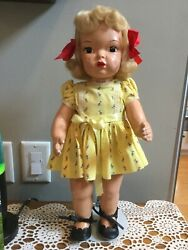 Doll Terri Lee Painted Plastic Blonde Mannequin Wig Tagged