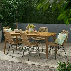 Kendal Outdoor 6 Seater Wicker Dining Set