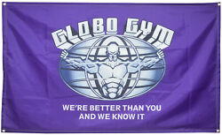 Globo Gym 3x5 Ft Flag Banner for College Dorm Frat or Man Cave