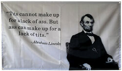 Honest Abe 3x5 Ft Flag Banner for College Dorm Frat or Man Cave