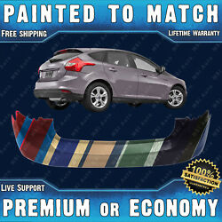 New Painted To Match Rear Bumper Replacement For 2012 2013 2014 Ford Focus Hatch