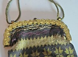 Antique Hand Woven Cloth French Bag Purse VV426 $48.75