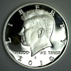 2010 S Proof Silver Kennedy Half Dollar Coin 50 Cent Jfk From Us Mint Proof Set
