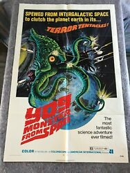 Yog Monster From Space 1971 Original 1 Sheet Movie Poster 27x41 Fine Sci-fi