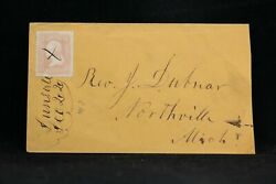 New York Dunnsville 1860s 65 Cover Ms Dpo Albany Co