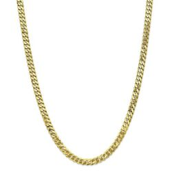 10k Yellow Gold 6.1mm Flat Beveled Curb Chain Bracelet Or Necklace 10fbu160