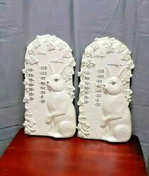 2 MoldedRabbit.Wall Hanging Decorations. 14 1 2 Inches .Nice Home Decoration.