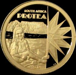 2001 Gold 1 Oz South Africa Proof Protea Coin
