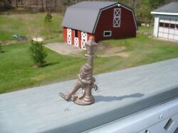 Cast Iron Hobo On Lamppost Old Collectible Lamp Post $7.95