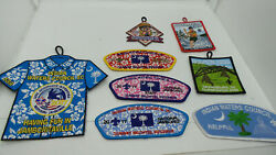 Indian Waters Council Sc Bsa Patch Collection - 8 Different Scout Patches