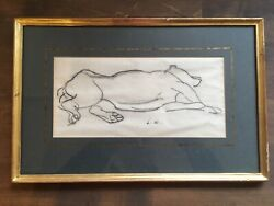 Laura Knight Original Drawing Signed 14andrdquox9andrdquo Framed