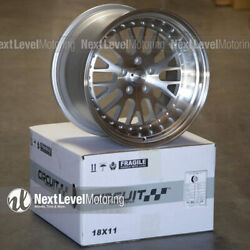 Circuit Cp21 18andtimes9.5 18andtimes11 5-114.3 +20 Machined Wheels Staggered Fits 350z 370z