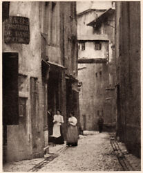 Charles Puttemans Street In Chambrey 1905 Full-plate Halftone Pictorialism