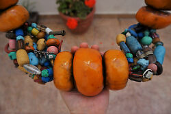 Huge Moroccan Handmade Amber Coins Moroccan African Collectible Necklace 3kg +