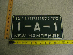 1970 70 New Hampshire Nh Vanity License Plate 1-a-1