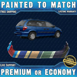 New Painted To Match Rear Bumper Cover For 2001-2007 Dodge Caravan Base Se Sport