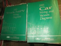 1993 Ford Car And Truck Mustang Taurus F150 - F350 Factory Wiring Diagram Manuals