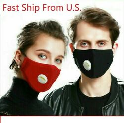 Reusable Face Mask Air Purifying Cotton Mouth Cover PM2.5 filter face mask
