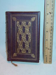 1868 Presentation Leather Bound Bible 488 Pg New Testament Like New