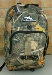 High Sierra Charlotte Motor Speedway Camouflage BackPack New with tags