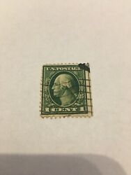 Extremely Rare George Washington Us 1cent Stamp. Double Green Line