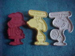 3 Vintage Hallmark Cookie Cutters Peanuts Characters 2 Snoopy And Lucy
