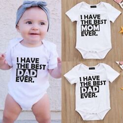 Newborn Baby Girl Boy Clothes Set Short Sleeve Romper Jumpsuit wang NtNtH $3.84