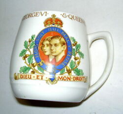 Myott Son And Co. 1937 Coronation Of King George Vi And Queen Elizabeth Cup Mug