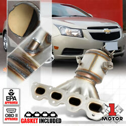 Exhaust Manifold Catalytic Converter For 11-17 Chevy Cruze/sonic/astra 1.8 4cyl