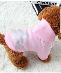 * New Adidog Dog Hoodies Button Winter Warm Sports Apparel Coat Clothes For dogs $6.00