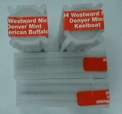 2004/2005-d 5c Westward Nickels 4 Rolls Unopened And Unciculated 160 Total