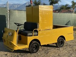Used Taylor Dunn B2-48 Industrial Flatbed Electric Utility Cart With Toolbox