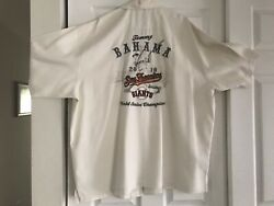 Sf Giants Tommy Bahama 2010 World Series Shirt-xlx Limited Edition New W/ Tags