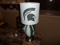 Michigan State University Football Table Lamp Handcrafted