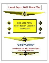 2032 Lionel Erie Repro Alco Diesel A-a Units Full Set For 2ea Cabs Water